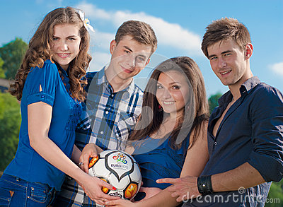 Waiting for Euro 2012 Editorial Image