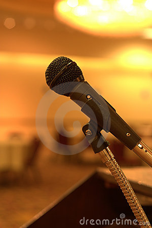 Free Waiting For A Speech Royalty Free Stock Images - 4837069