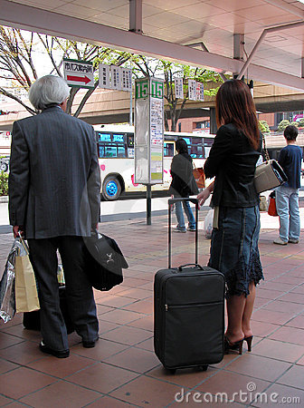 Free Waiting For The Bus Stock Image - 75541