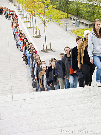Free Waiting In Line Royalty Free Stock Image - 21333226