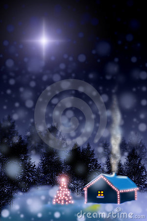 Waiting for a miracle. Christmas star