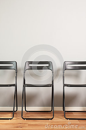 Waiting room with chairs