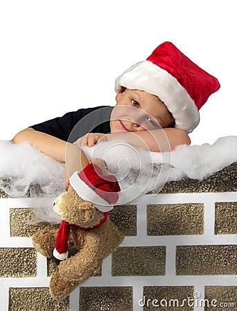 Waiting on Santa white background