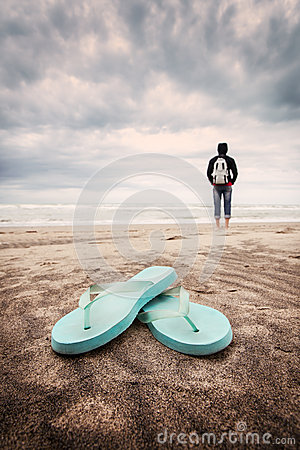 Waiting for summer. Stock Photo