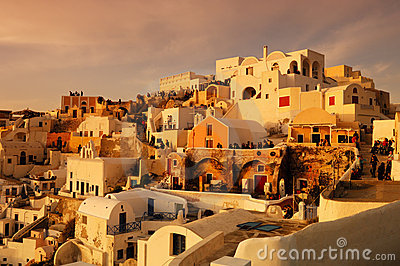Waiting for the sunset in Oia