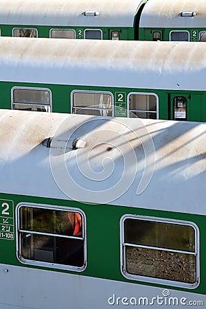 Waiting trains