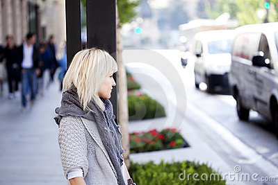 Waiting urban girl