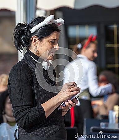 Waitress Editorial Photo