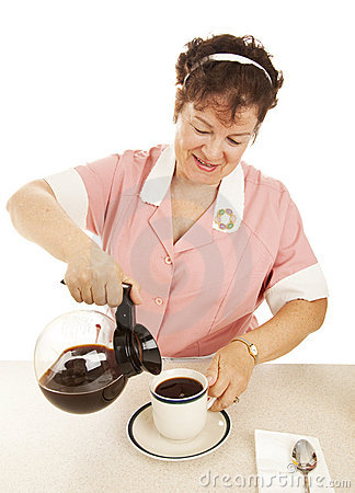 Waitress Pouring Coffee