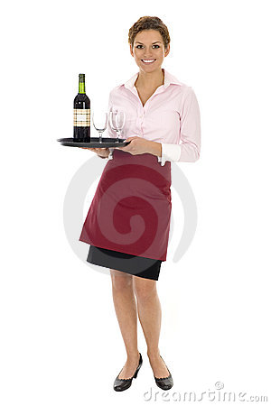 Free Waitress Serving Wine Royalty Free Stock Photo - 6631345