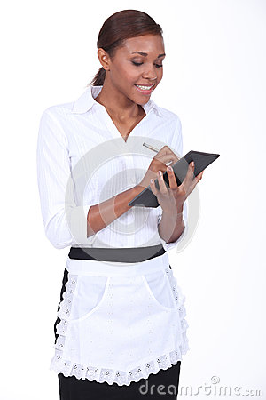 Free Waitress Taking An Order Stock Photo - 27223340