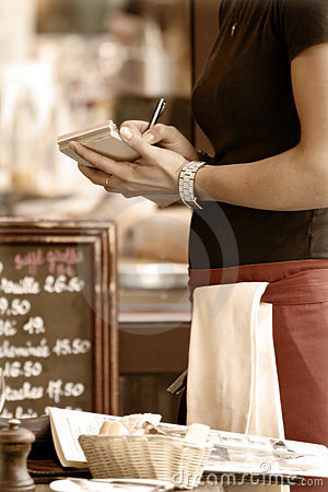 Free Waitress Taking Order Stock Photography - 6260022