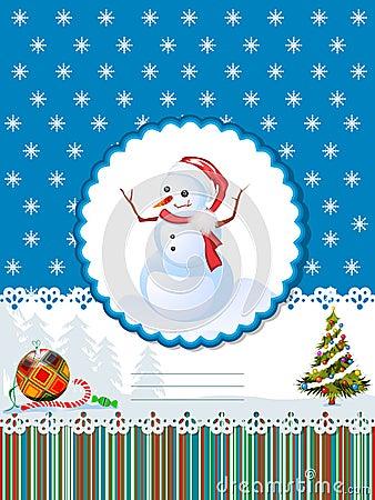 Wakacje karciana dekoracyjna zima