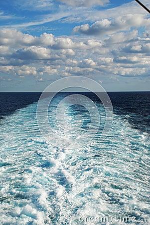 Free Wake At Sea Stock Images - 25301304