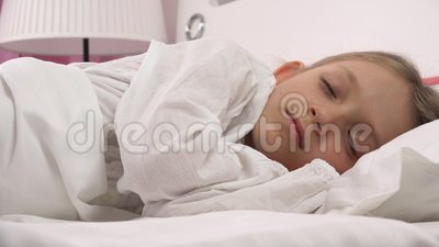 Wake Up Child Portrait Fall Asleep In Bed, Sleeping Little ...