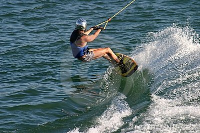Wakeboard player