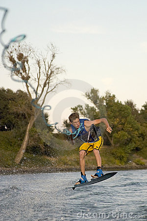 Wakeboarder and Wakeboard