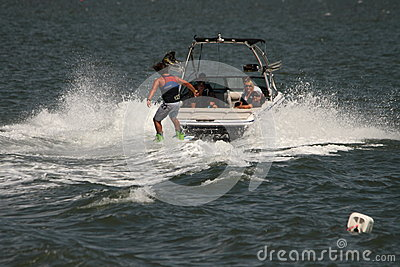 Wakeboarding demonstration Editorial Photo