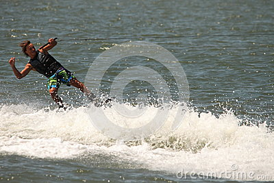 Wakeboarding demonstration Editorial Image