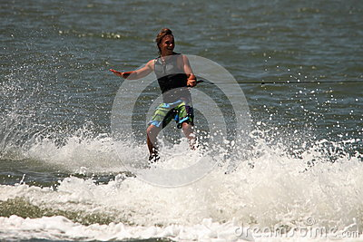 Wakeboarding demonstration Editorial Stock Photo