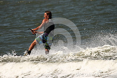 Wakeboarding demonstration Editorial Stock Image