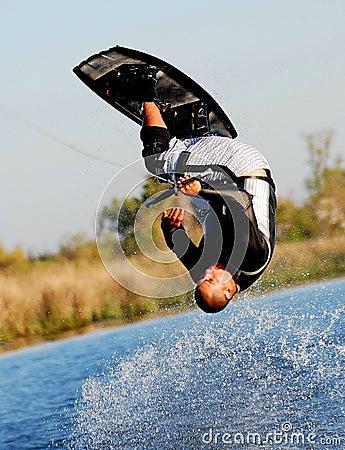 Wakeboarding Somersault