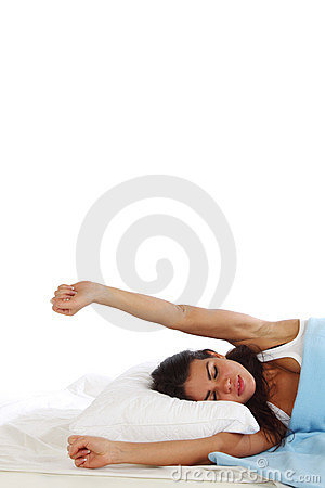 Waking woman