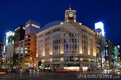 Wako Department Store in Ginza, Tokyo, Japan Editorial Stock Photo
