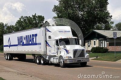 Wal-Mart truck Editorial Photo