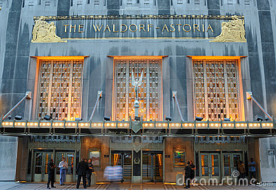 Waldorf Astoria Editorial Stock Photo