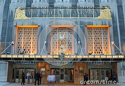 Waldorf Astoria Editorial Stock Photo