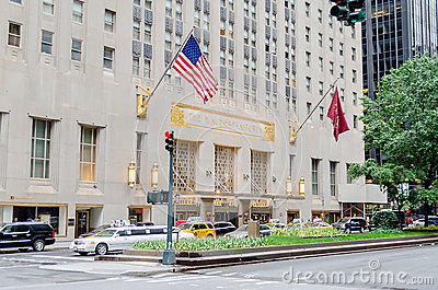 The Waldorf-Astoria Hotel in NYC Editorial Stock Photo