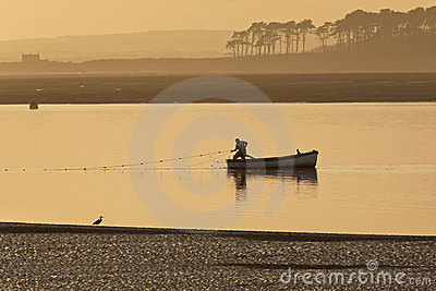 Wales - Caernarfon - Fishing Editorial Stock Image