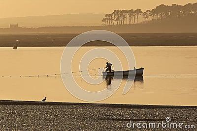 Wales - Caernarfon - Fishing Editorial Stock Image