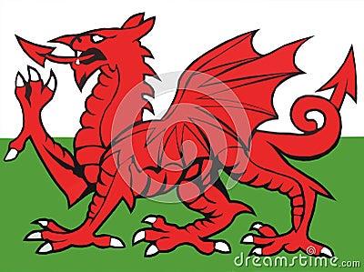 Wales Flag Illustration