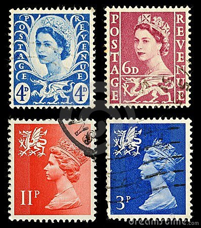 Wales Postage Stamps