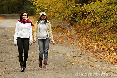 Walk in the autum