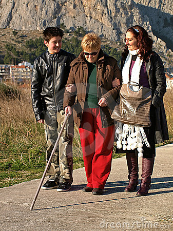 Walk with the blind woman