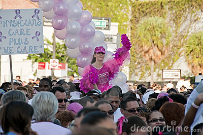 Walk for Breast Cancer cure. Editorial Image
