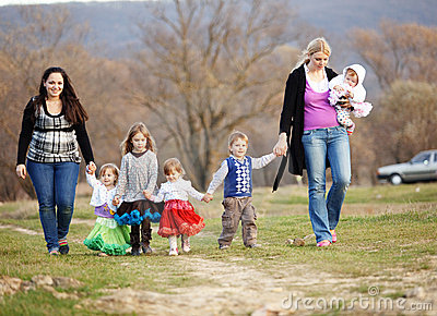 Walk with children