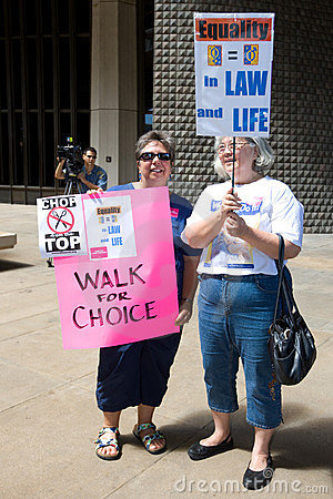 Walk for Choice Editorial Stock Photo