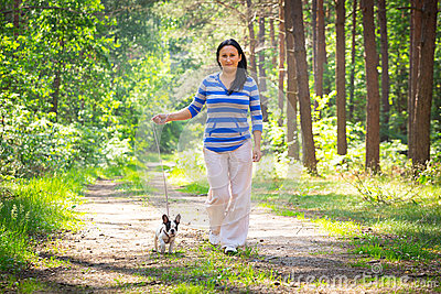 Walk with the dog