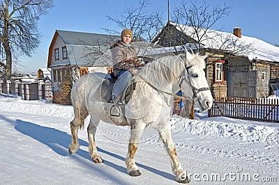 Walk on a horse