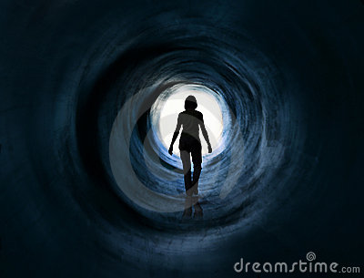 Walk into light. Escape, death vision, paranormal