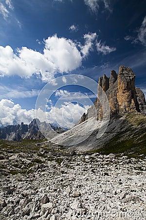 Walk near the three peaks ...