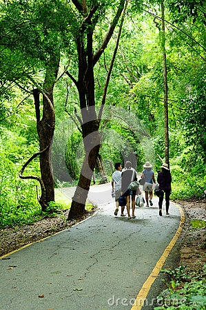 Walk street to national park Editorial Photography
