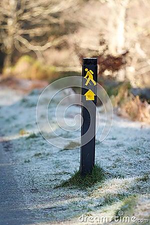 Walk trail sign