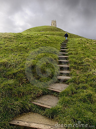 Free Walk Up Glastonbury Tor Stock Image - 132151