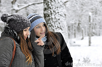 Walk in winter park