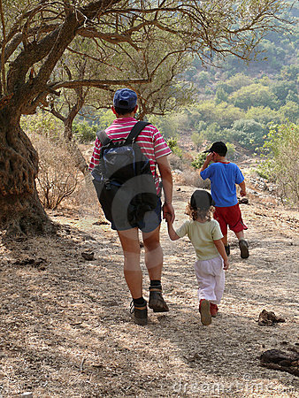 Free Walk With Dad Stock Images - 3302774